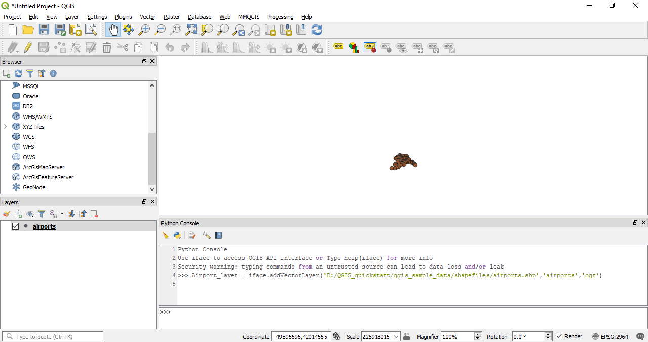 Using the Python command line - QGIS Quick Start Guide