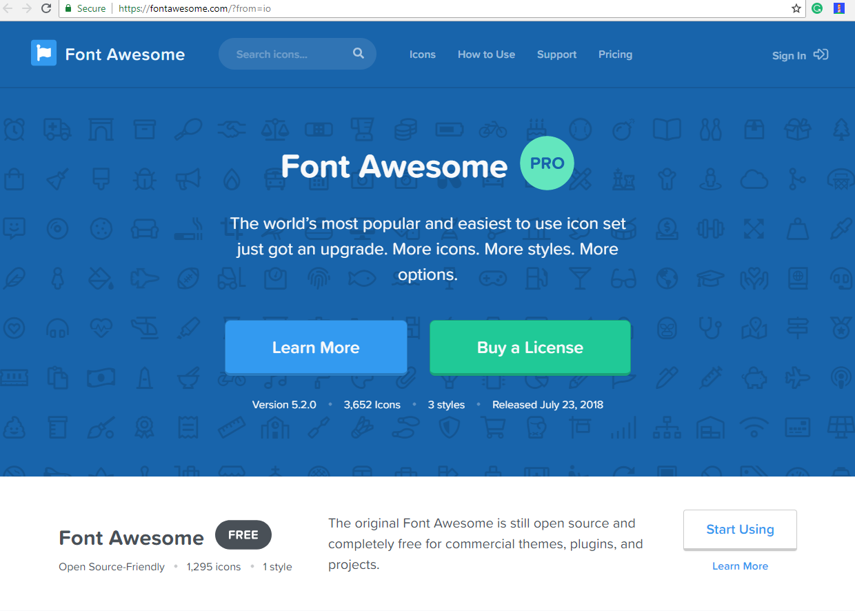 Installing Font Awesome Learning Bootstrap 4 By Building Projects