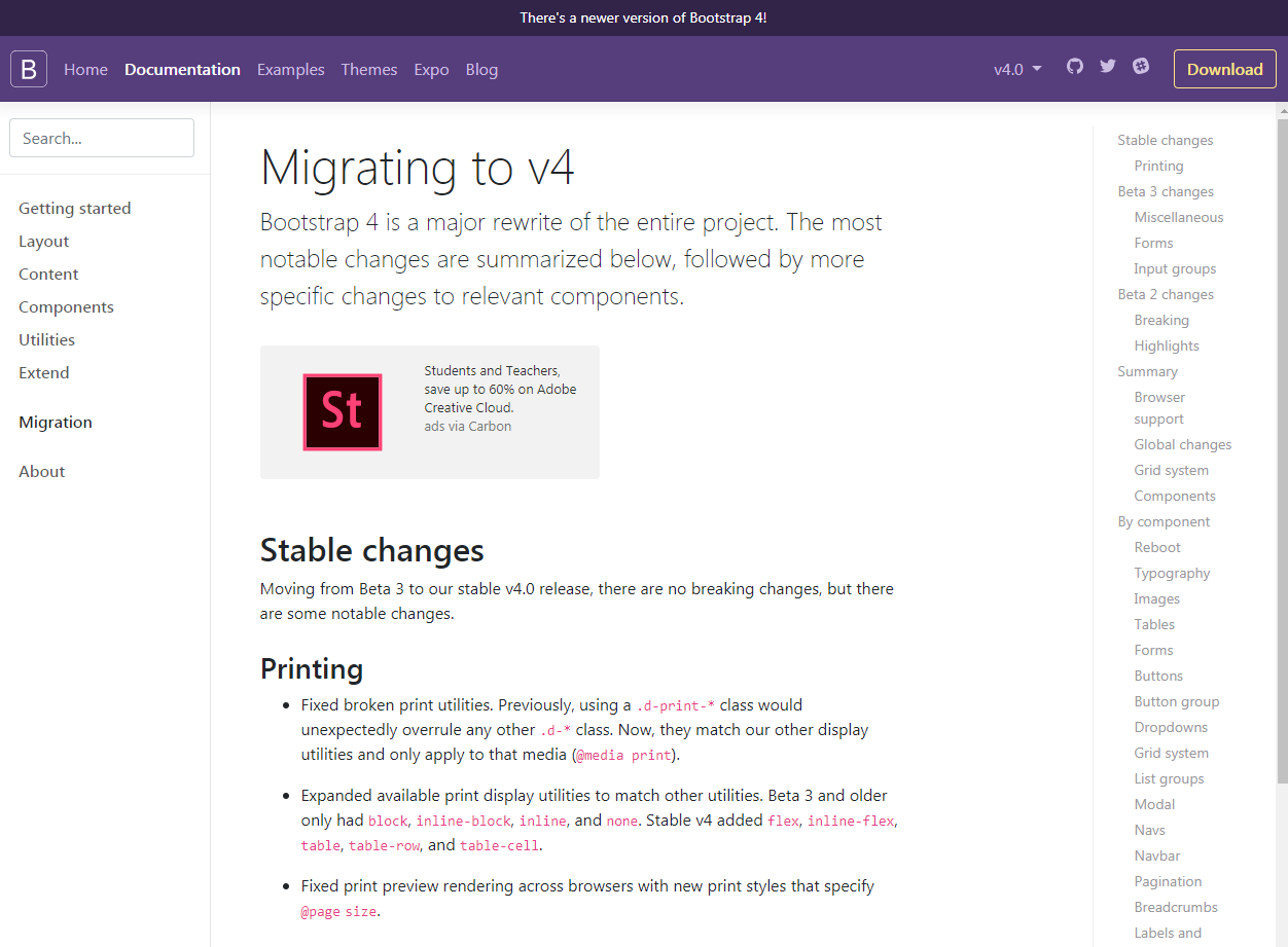 Migrating to v4 - Learning Bootstrap 4 by Building Projects