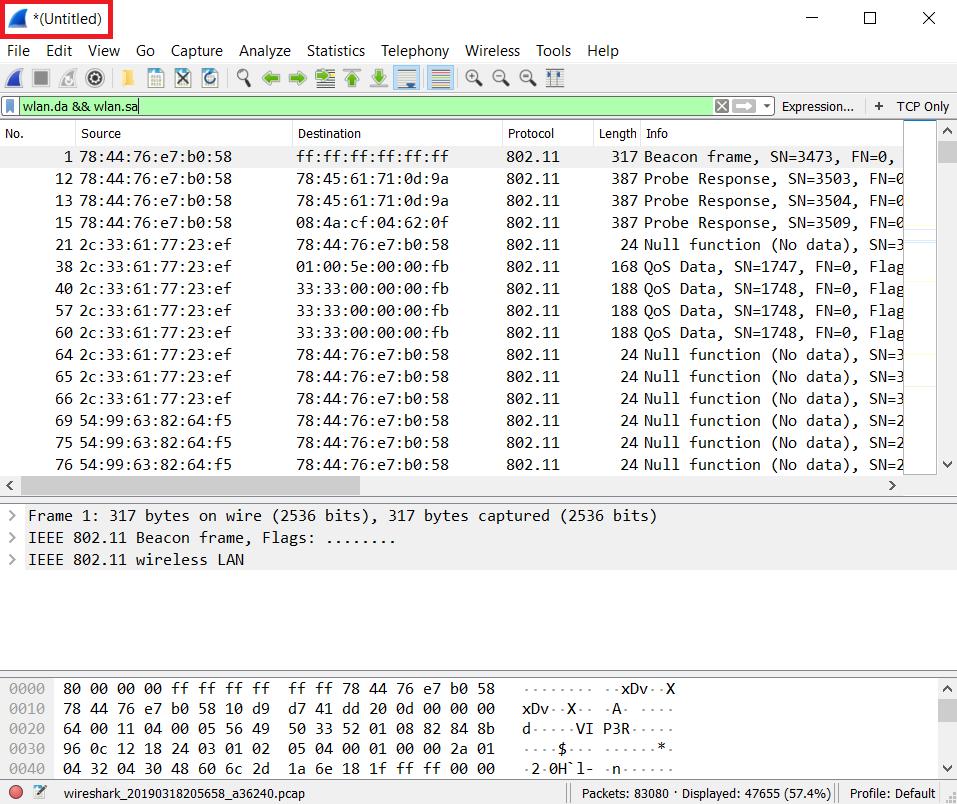 Merging and splitting PCAP data - Hands-On Network Forensics