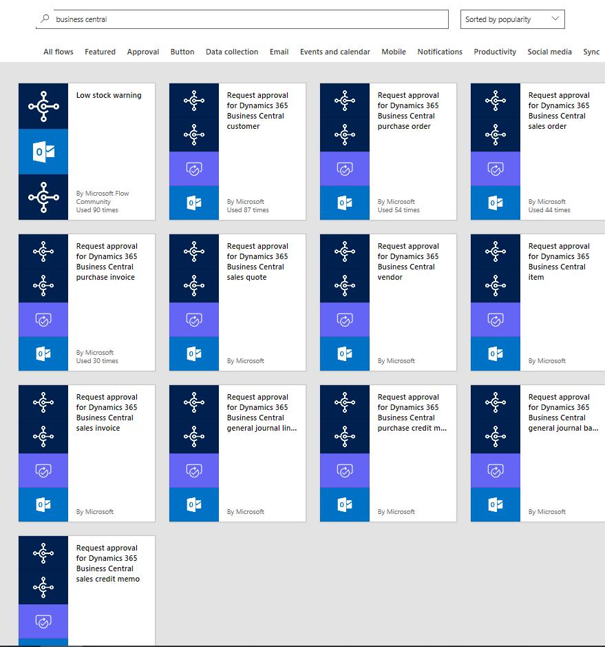 Microsoft Flow - Dynamics 365 Business Central Development