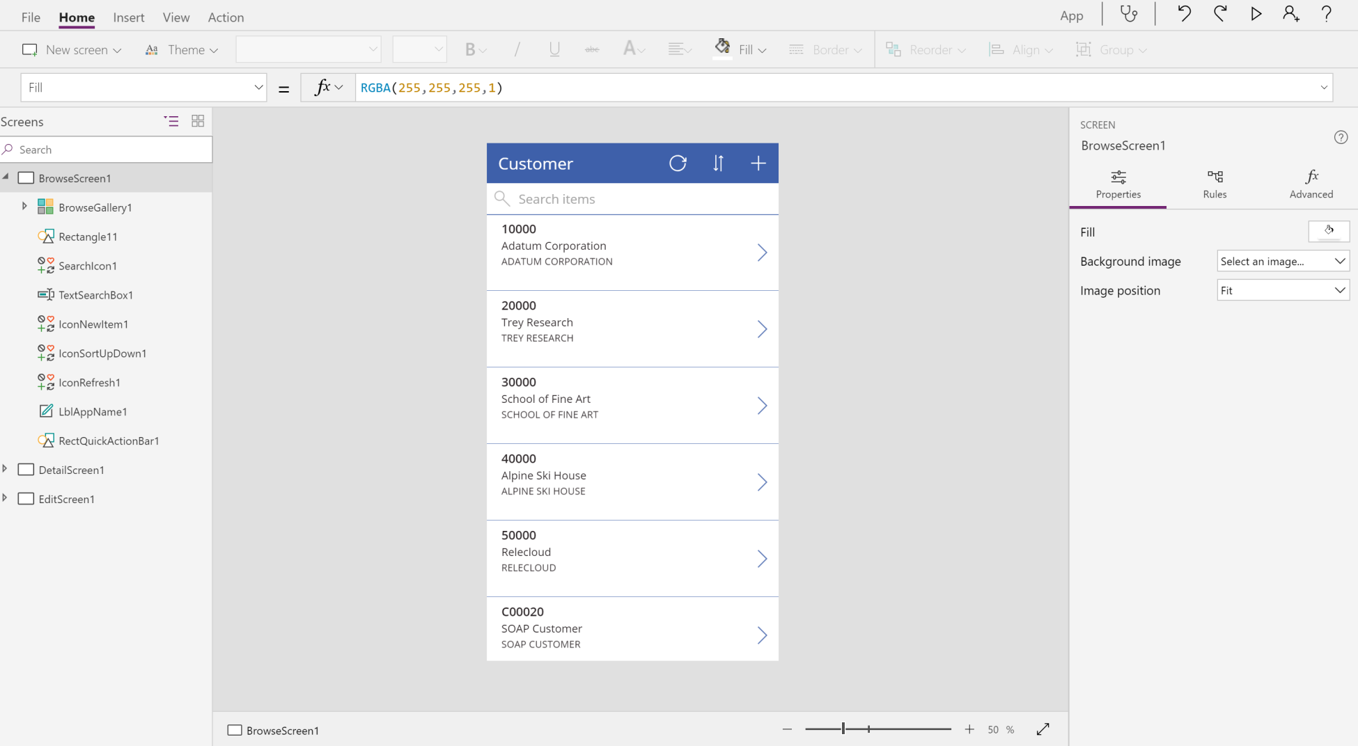 Microsoft PowerApps - Dynamics 365 Business Central