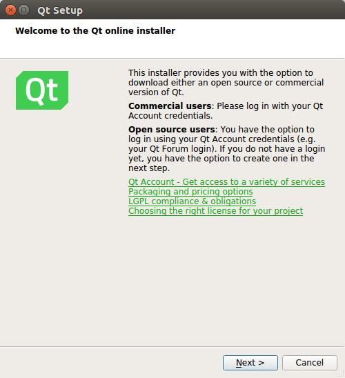Installing Qt - End to End GUI development with Qt5