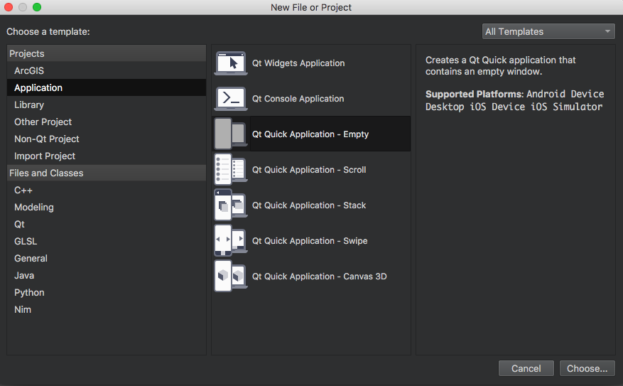 Project setup - End to End GUI development with Qt5