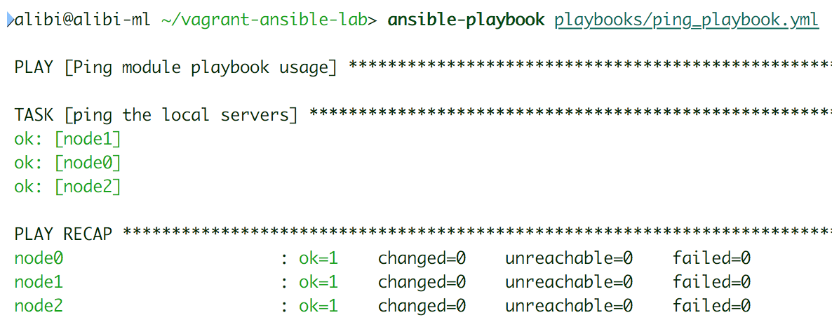 Ad hoc versus playbook: the ping module - Ansible Quick