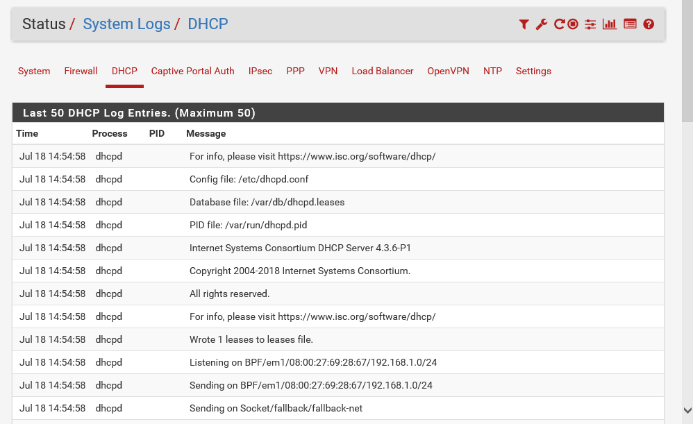 Configuring pfSense as a DHCP server - Network Security with