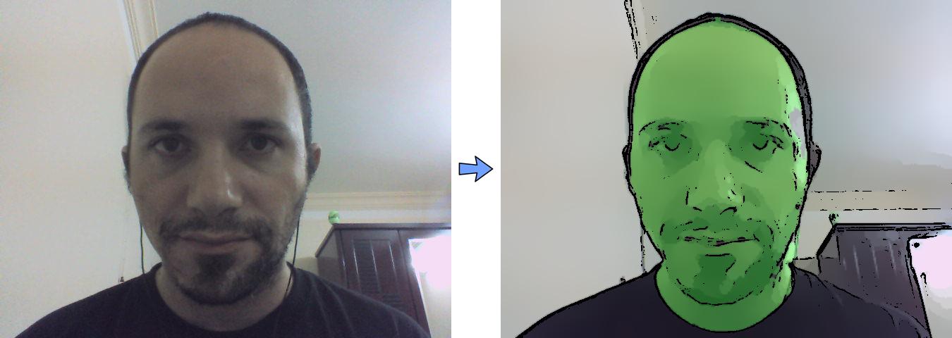 Implementation of the skin color changer - Mastering OpenCV
