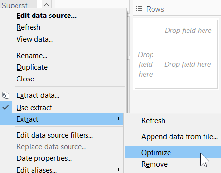 Optimizing extracts - Mastering Tableau 2019 1 - Second Edition
