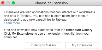 Tableau extensions - Mastering Tableau 2019 1 - Second Edition