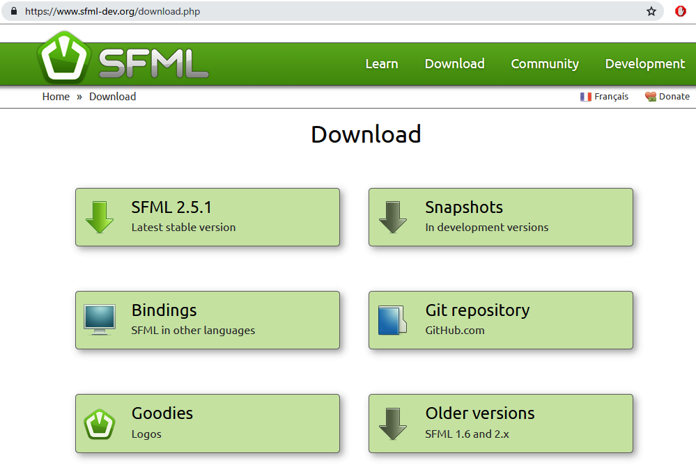 Downloading SFML and configuring Visual Studio - C++ Game