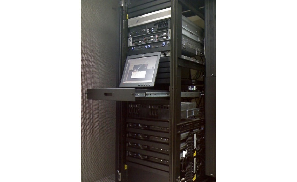 Figure 1.1 – A typical server rack, commonly seen in colocation