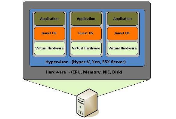 Figure 1.4 – Hardware virtualization