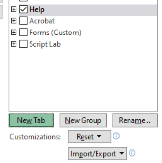 Figure 1.31 – The Help tab selected