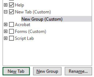 Figure 1.32 – The New Tab option inserted