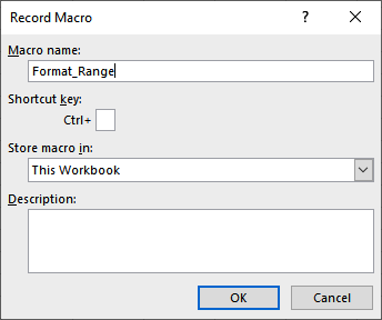 Figure 1.8 – The Shortcut key textbox, Ctrl+