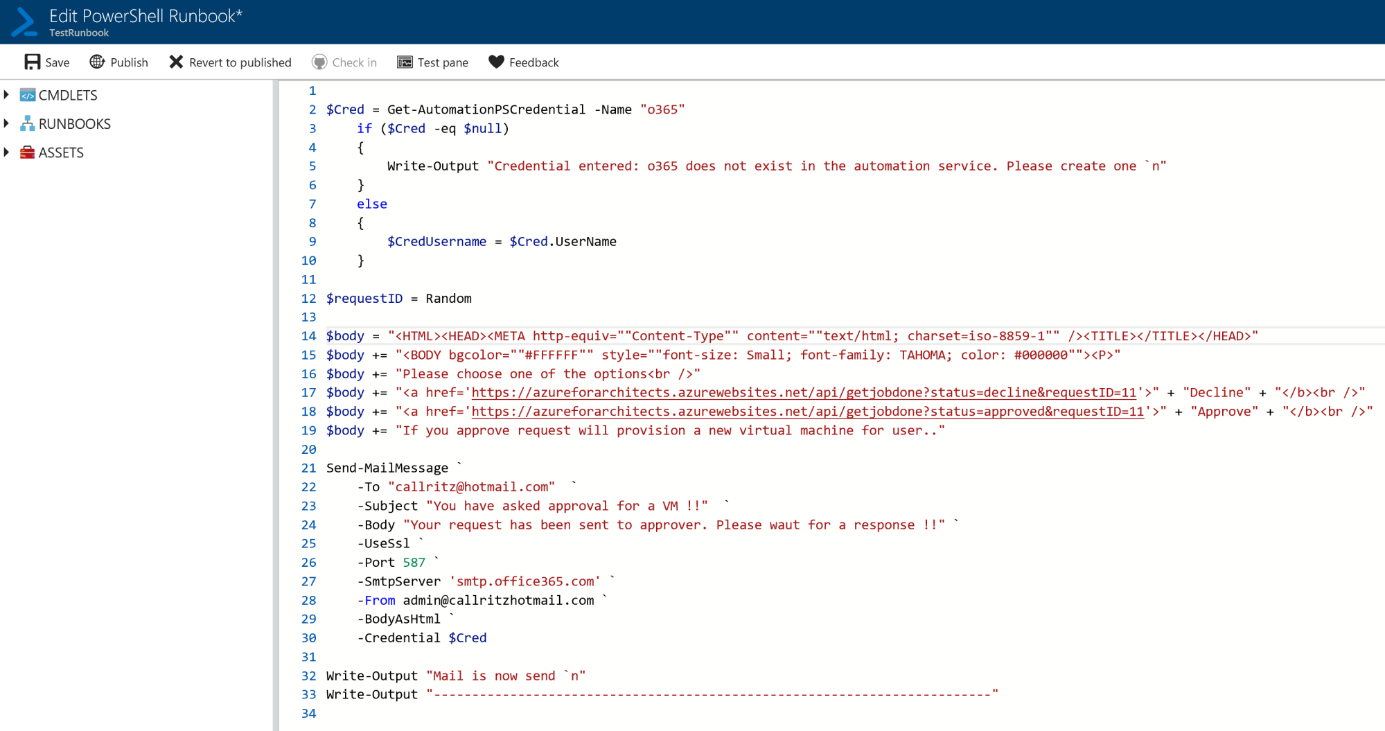 Executing runbooks on Alerts - Azure for Architects - Second