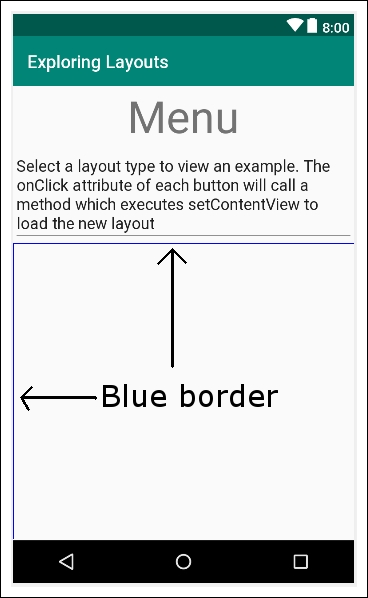 Adding layouts within layouts - Android Programming with Kotlin for
