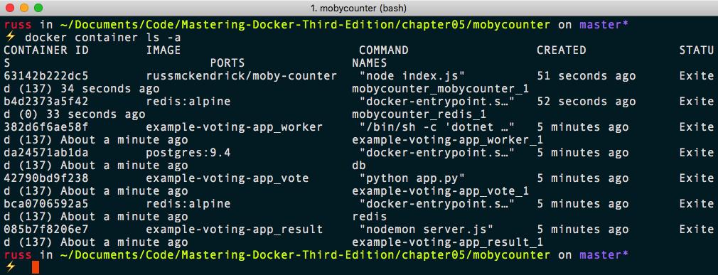 Docker Compose commands - Mastering Docker - Third Edition