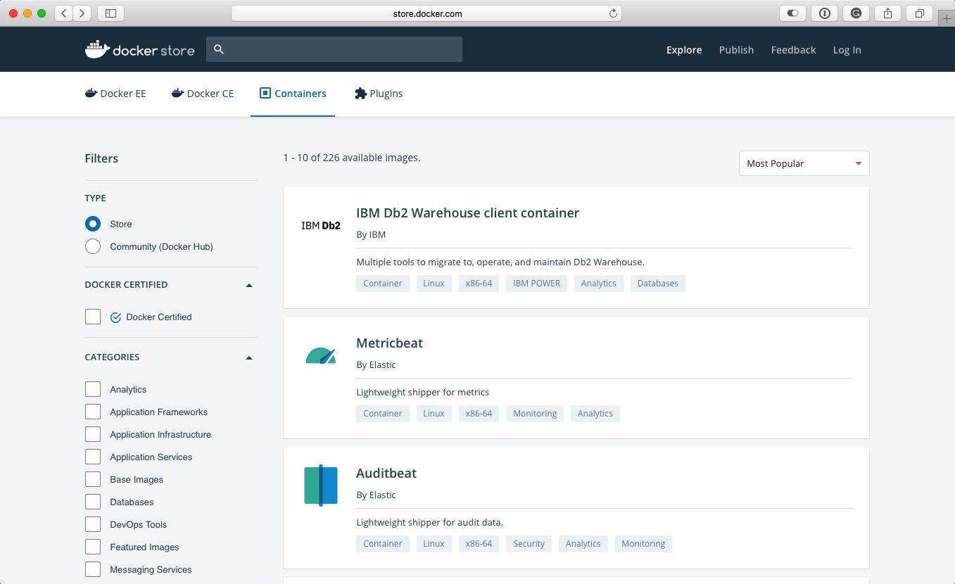 Docker Store - Mastering Docker - Third Edition