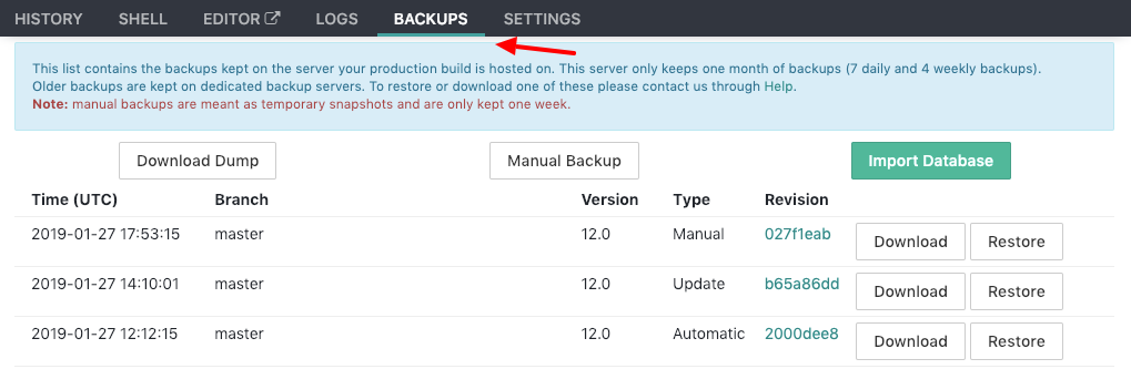 Getting a backup of your instance - Odoo 12 Development Cookbook