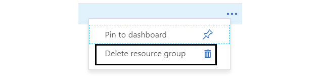 Figure 1.28: Delete resource group option