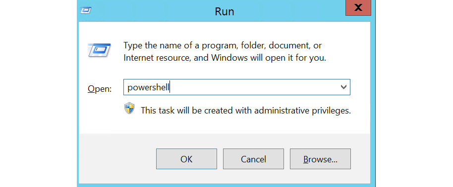 Figure 1.39: Opening up PowerShell