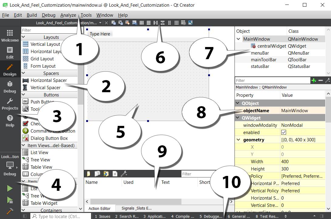 Using style sheets with Qt Designer - Qt5 C++ GUI