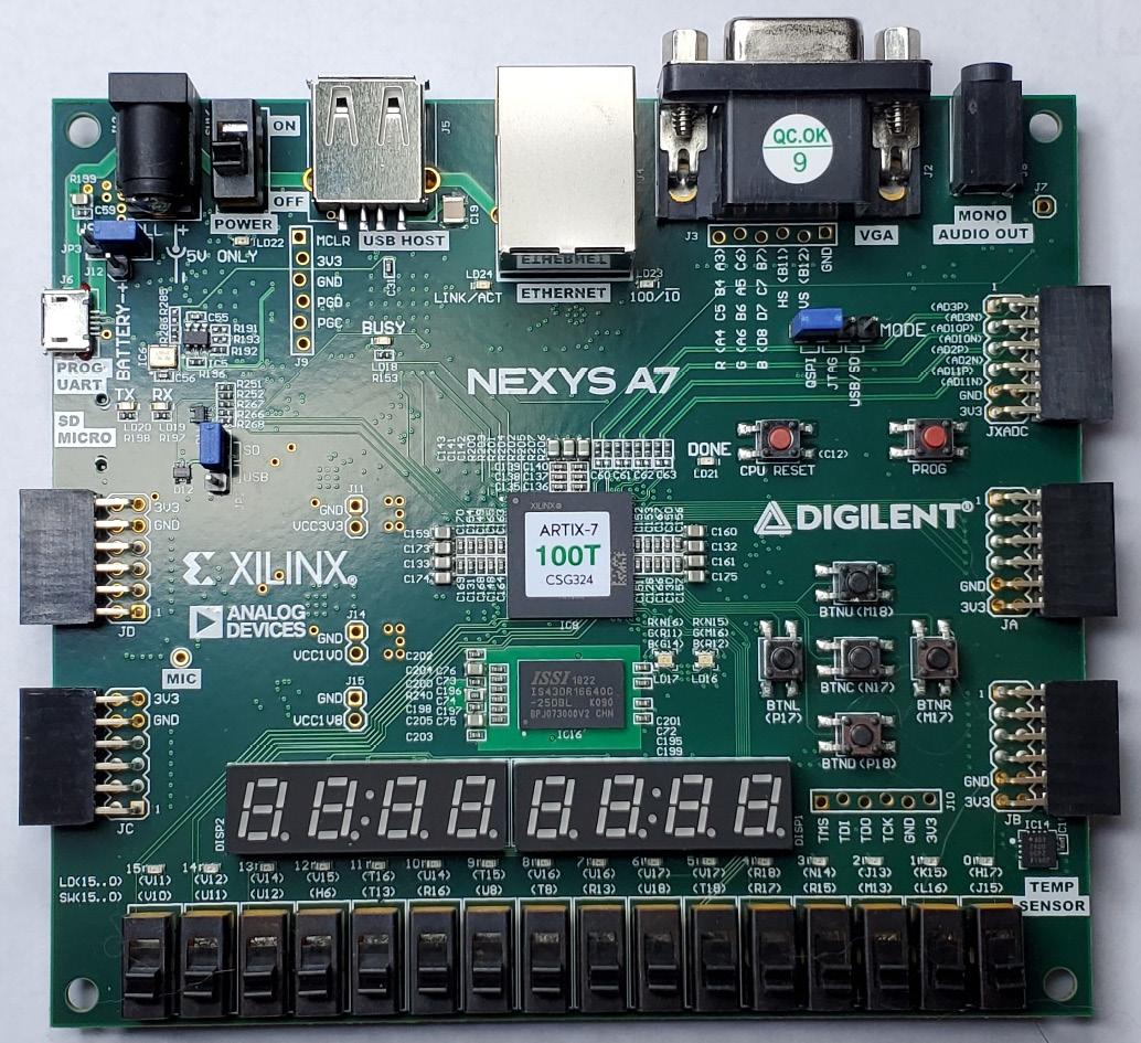 Figure 1.11 – Digilent Nexys A7 board