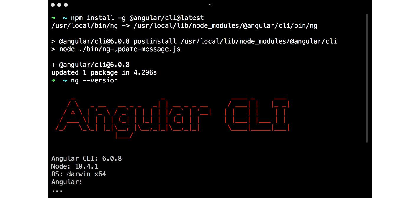 Figure 1.1: Installing Angular CLI