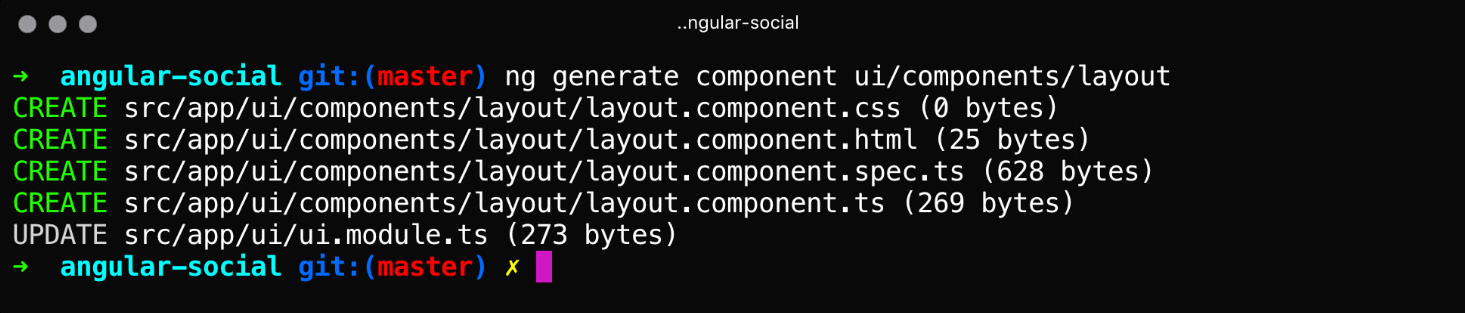 Figure 1.12: Generating the layout component