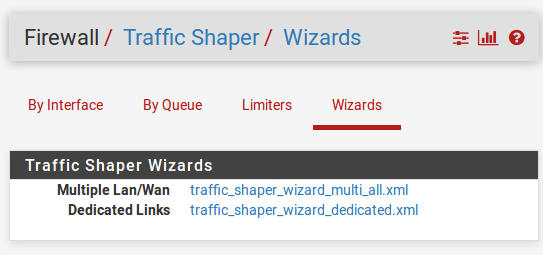 Configuring traffic shaping using the traffic-shaping wizard