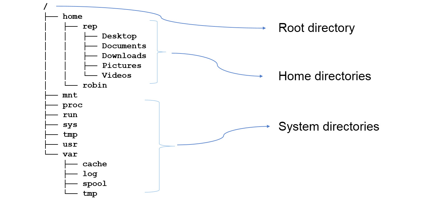 Figure 1.1: An illustration of an example structure of a typical filesystem