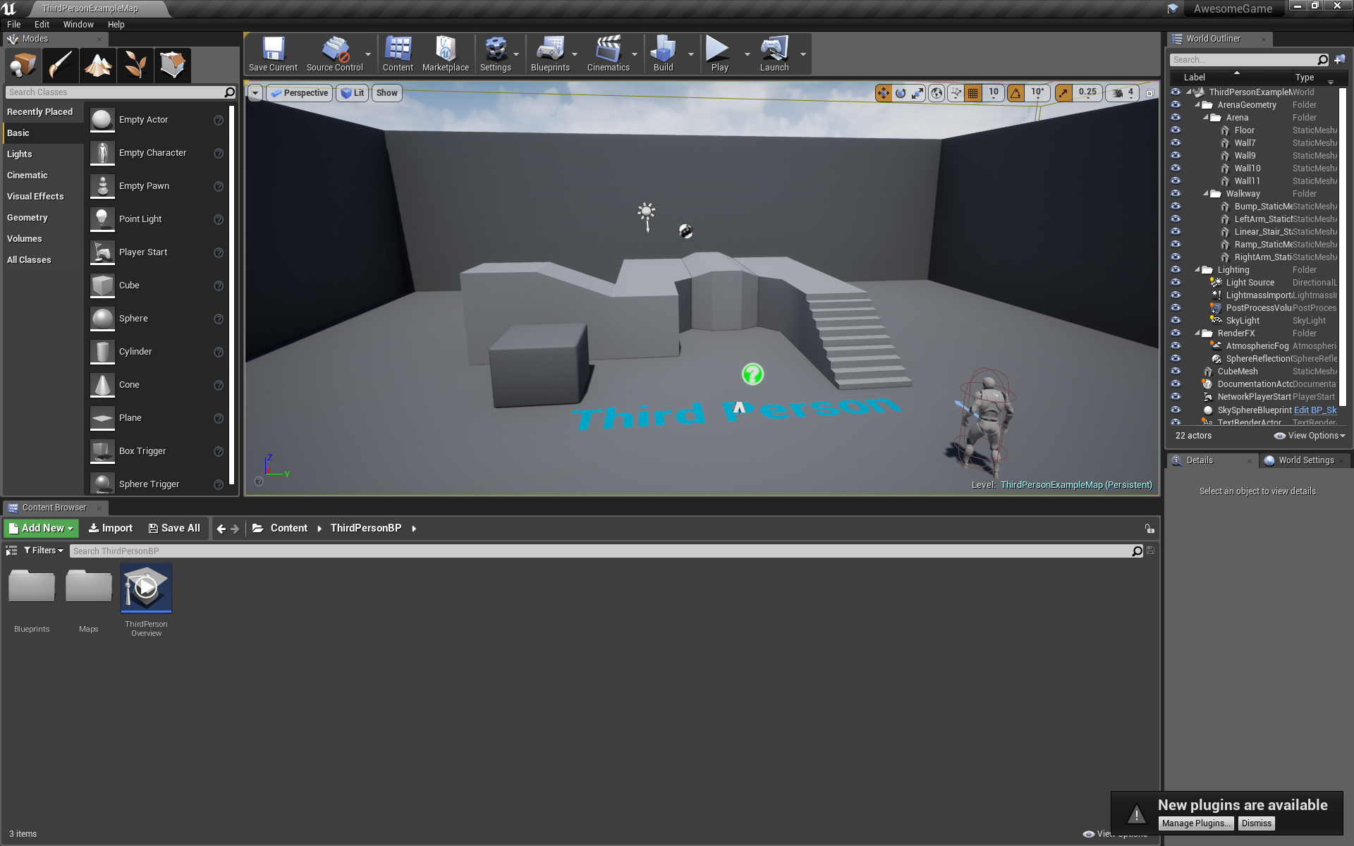 The Unreal editor - Unreal Engine 4 Game Development Quick