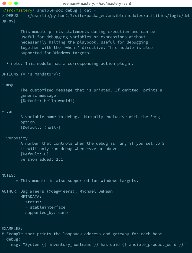 Module transport and execution - Mastering Ansible - Third
