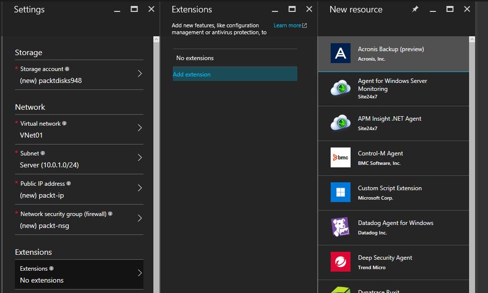 Virtual Machine Extensions - Deployment of Microsoft Azure