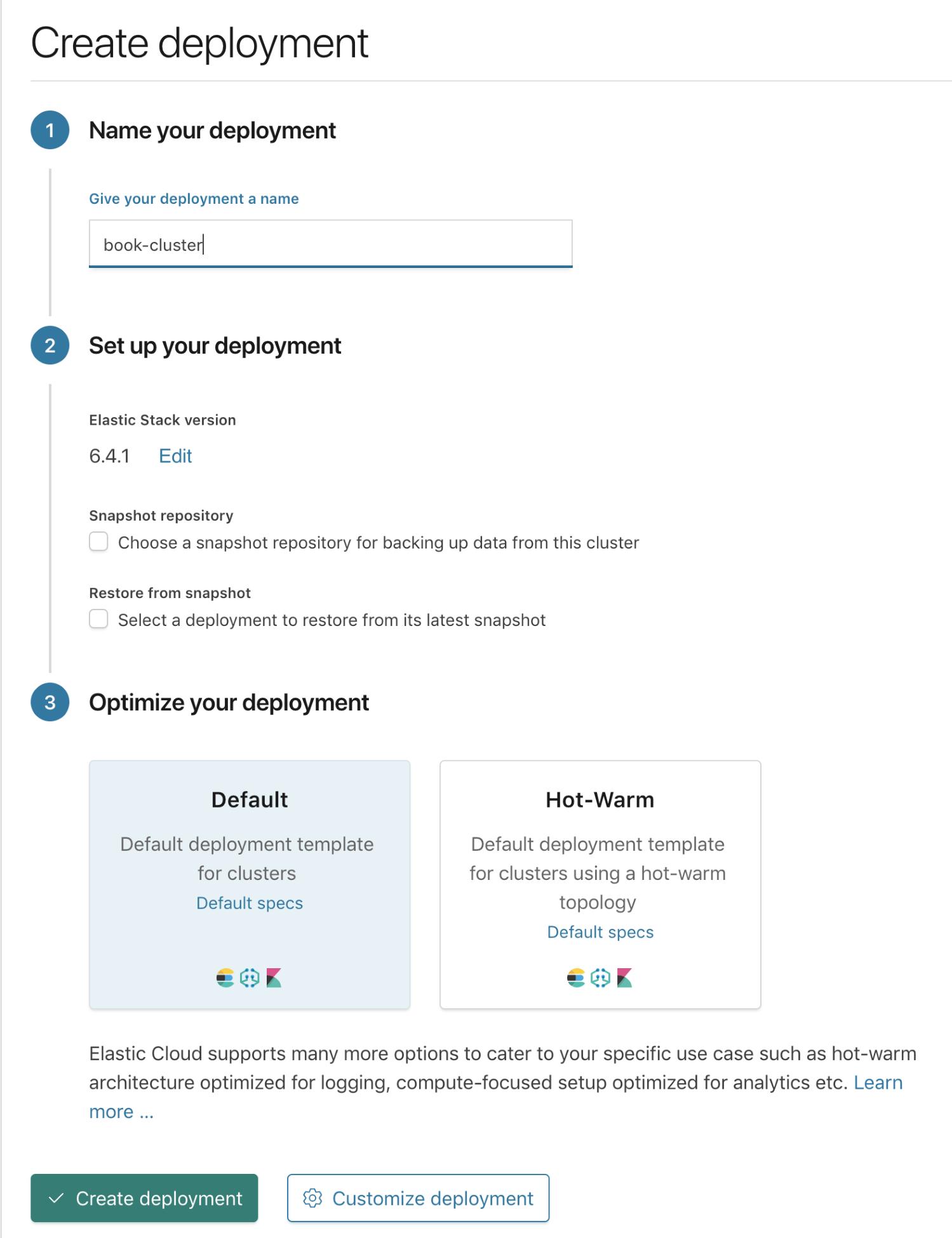 Deploying on Elasticsearch Cloud Enterprise - Elasticsearch