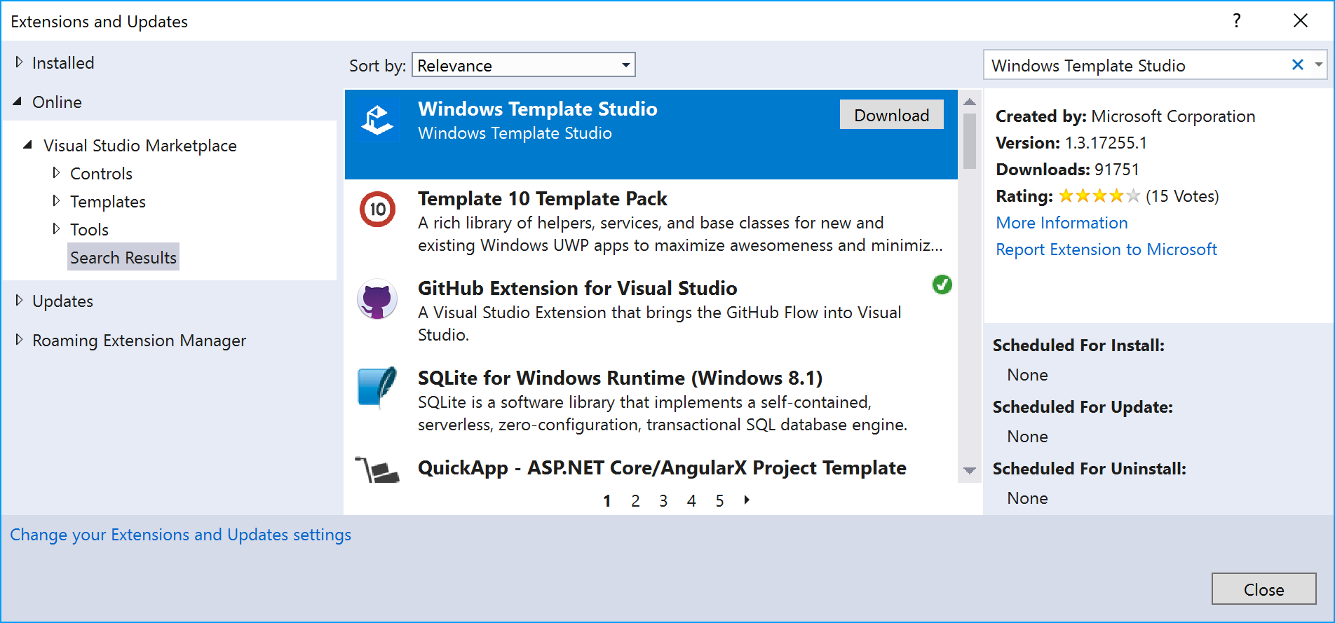 Building apps using Windows Template Studio - C# 7 and  NET