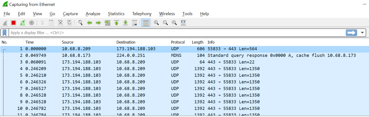 Interacting with Wireshark with pyshark - Learning Python Networking