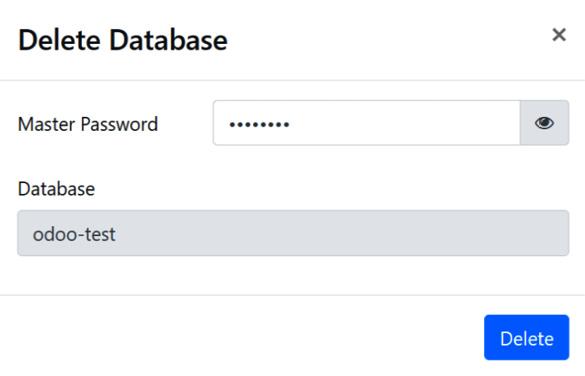 Figure 1.8 – Delete Database dialog