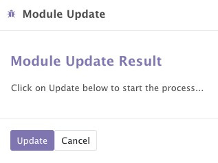 Figure 1.14 – Dialog to update the apps list