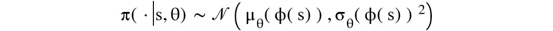 Figure 1.23: Expression for a Gaussian policy
