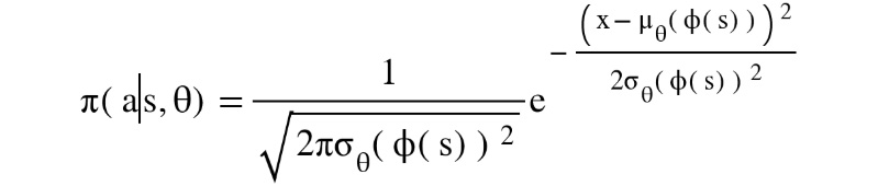 Figure 1.25: A Gaussian policy