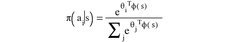 Figure 1.27: Expression for a Boltzmann policy