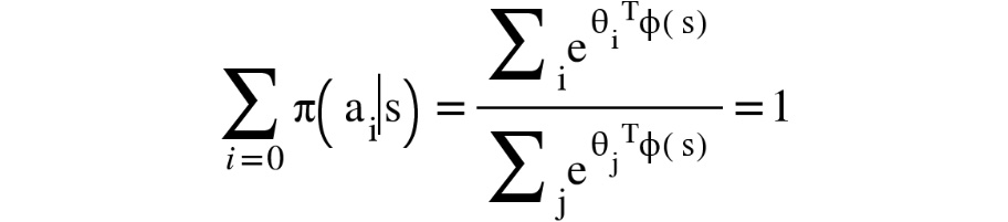 Figure 1.28: A Boltzmann policy over all of the actions