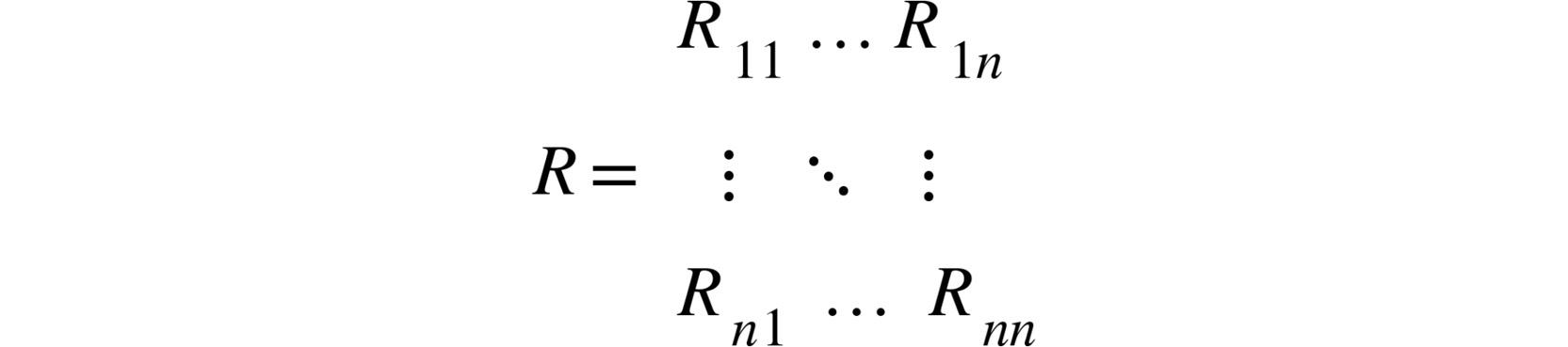 Figure 2.11: Reward matrix