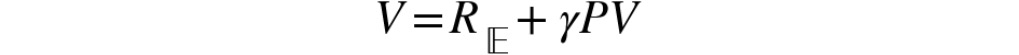 Figure 2.17: Matrix form of the Bellman equation