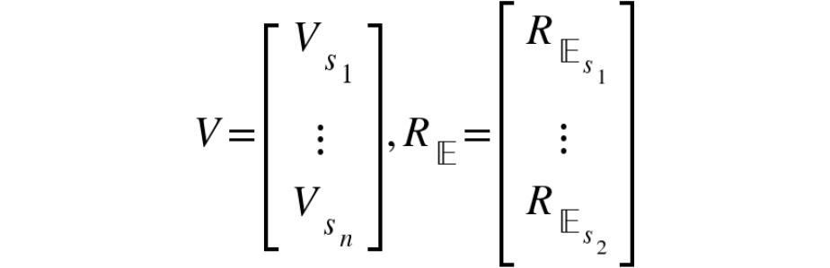 Figure 2.18: Matrix form of the Bellman equation