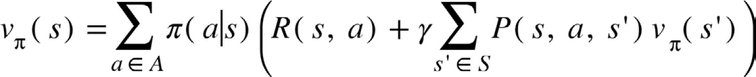 Figure 2.29: The state-value function to highlight the policy contribution