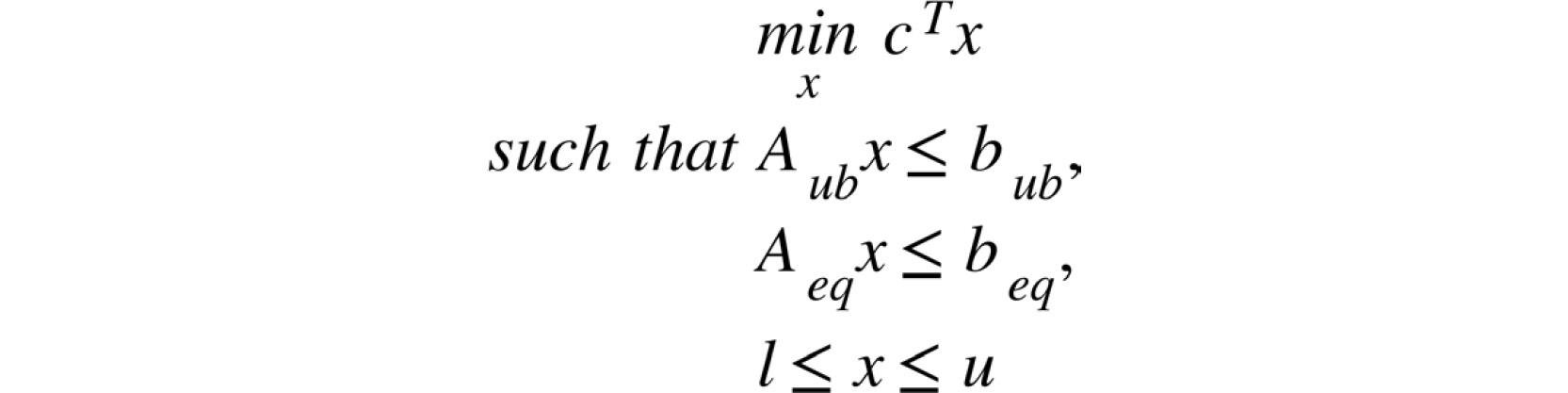 Figure 2.55: Linear programming notation