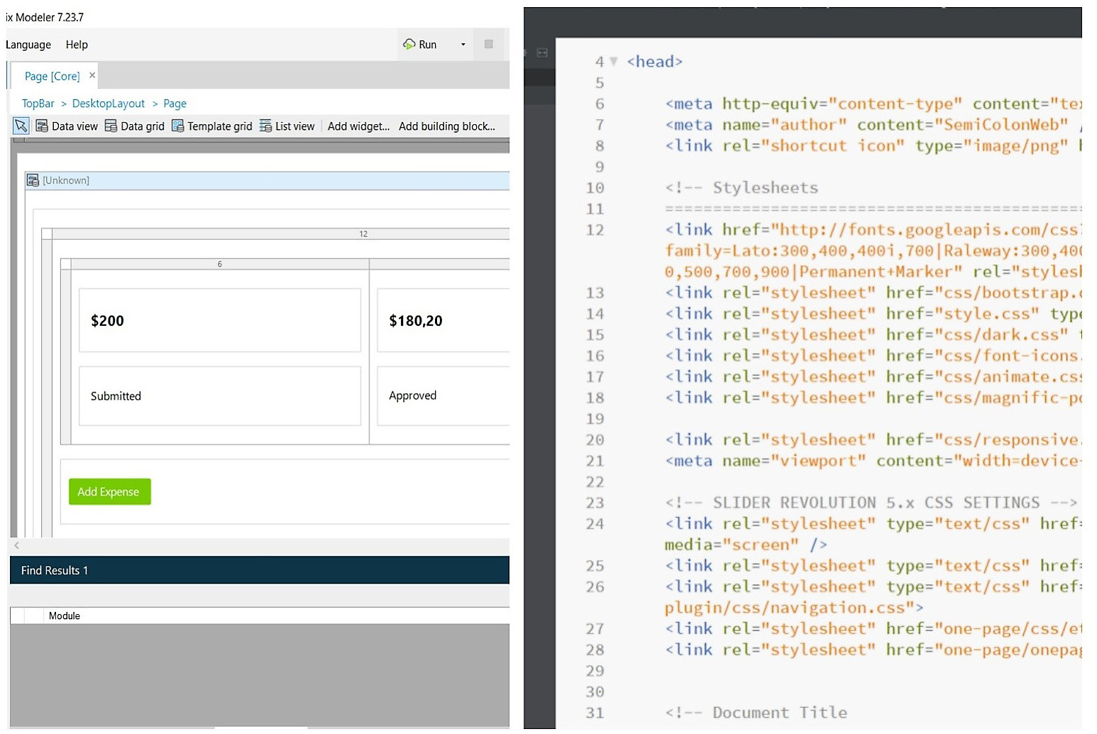 Figure 1.1 – Visual code versus traditional code